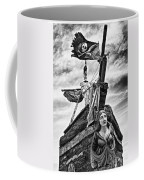 Pirate Ship And Black Flag Coffee Mug by Garry Gay
