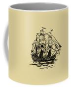 Pirate Ship Artwork - Vintage Coffee Mug by Nikki Marie Smith
