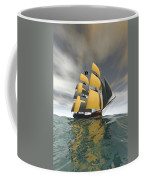 Pirate Ship On The High Seas Coffee Mug