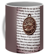 Pisces In A Sea Of Text Coffee Mug