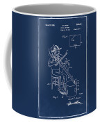 Pitch Fork Fiddle And Drum Patent 1936 - Blue Coffee Mug
