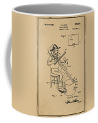 Pitch Fork Fiddle And Drum Patent 1936 - Sepia Coffee Mug