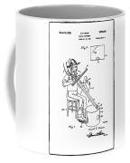 Pitch Fork Fiddle And Drum Patent 1936 - White Coffee Mug