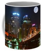 Pittsburgh Full Moon Panoramic Coffee Mug