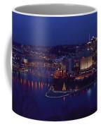 Pittsburgh Skyline At Night Christmas Time Coffee Mug