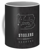 Pittsburgh Steelers Art - Nfl Football Wall Print Coffee Mug by Damon Gray