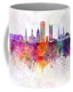 Pittsburgh V2 Skyline In Watercolor Background Coffee Mug