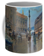 Place De L Opera In Paris Coffee Mug by Georges Stein
