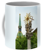Plague Column And Saint Martin Cathedral Coffee Mug