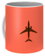 Plane In The Sky  Along With The Moon 2 Coffee Mug