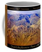 Planet Art Death Valley Mountain Aerial Coffee Mug