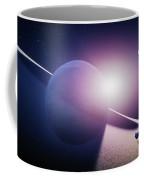 Planet Saturn Sunrise Coffee Mug