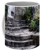 Plants Grow In The Uneven Stairs Climbing Towards The Tower Coffee Mug