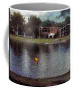 Plastic Buoy In Front Of A Lake Coffee Mug