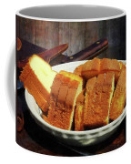 Plate With Sliced Bread And Knives Coffee Mug