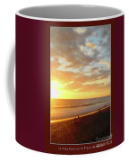 Playa Hermosa Puntarenas Costa Rica - Sunset A One Detail Two Vertical Poster Greeting Card Coffee Mug