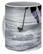 Player And Puck Coffee Mug