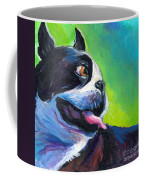 Playful Boston Terrier Coffee Mug by Svetlana Novikova