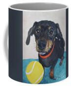 Playful Dachshund Coffee Mug by Megan Cohen