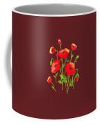Playful Poppy Flowers Coffee Mug