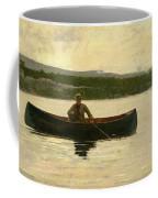 Playing A Fish Coffee Mug by Winslow Homer