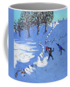 Playing In The Snow Youlgrave, Derbyshire Coffee Mug