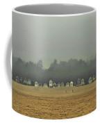 Playing On The Foggy Beach  Coffee Mug