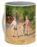 Playing With The Hoop Coffee Mug by Victor Gabriel Gilbert