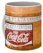 Plaza Corner Coca Cola Sign Coffee Mug