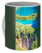 Plitvice Lakes National Park Vertical View Coffee Mug