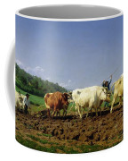 Ploughing In Nivernais Coffee Mug