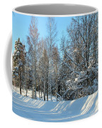 Plowed Winter Street In Sunlight Coffee Mug