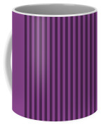 Plum Purple Striped Pattern Design Coffee Mug