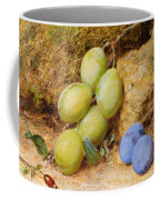 Plums And A Rose Hip On A Mossy Bank Coffee Mug