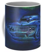Plymouth Gtx American Muscle Car Blue Glow Framed Print