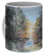 Pm River Sunset Coffee Mug
