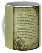 Poem The Question By Ella Wheeler Wilcox Coffee Mug