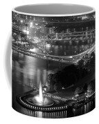 Point State Park In Black And White Coffee Mug