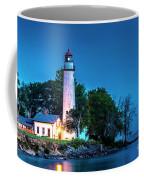 Pointe Aux Barques Lighthouse At Dawn Coffee Mug