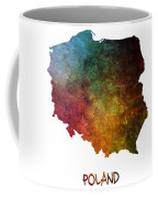 Poland Map Polska Map Coffee Mug