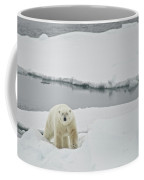 Polar Bear Climbing Ice Floe In Arctic Coffee Mug