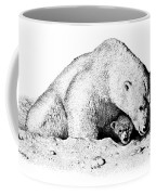 Polar Bear Protects Her Young Coffee Mug