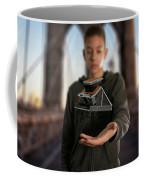 Polaroid Sx-70 On The Brooklyn Bridge Coffee Mug