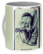 Polaroid Transfer Skull Anatomy Teeth Skeleton Beard Coffee Mug