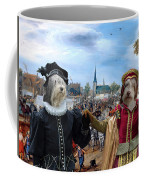 Polish Lowland Sheepdog Art Canvas Print - Prince And Princess Of Orange Coffee Mug