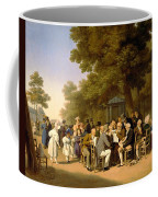 Politicians In The Tuileries Gardens Coffee Mug by Louis Leopold Boilly