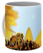 Pollen-coated Honey Bee On A Sunflower Coffee Mug