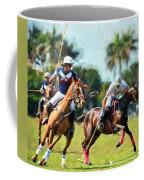 Polo Players And Ponies Coffee Mug
