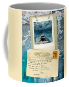 Poloroid Of Boat With Inspirational Quote Coffee Mug