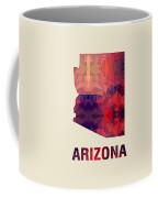Polygon Mosaic Parchment Map Arizona Coffee Mug